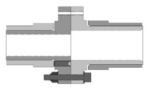 Horizontal Rigid Coupling drawing - no spacer