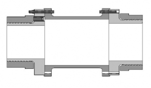 Horizontal Rigid Coupling drawing - with spacer
